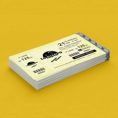 Ingresso de Segurança Amarelo MINI c/canhoto P&B