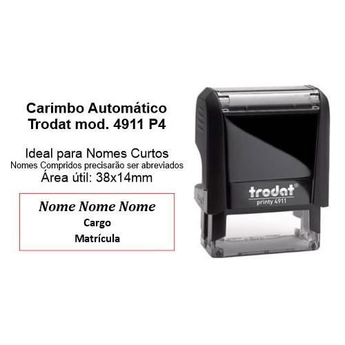 Carimbo Automático modelo 4911 P4 38x14mm
