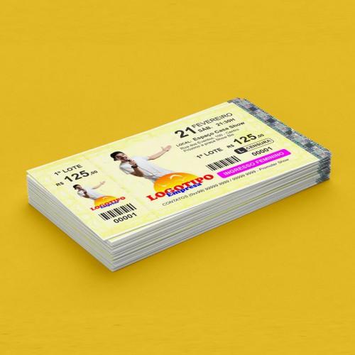 Ingresso de Segurança Amarelo MINI c/canhotoColor